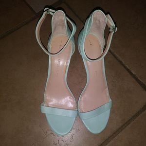 Banana Republic mint leather high heels